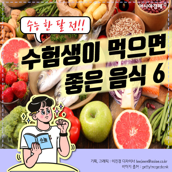 [카드뉴스]수험생이 먹으면 좋은 음식 6