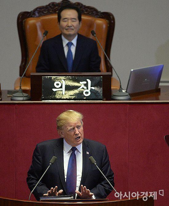 """與 """"트럼프 한반도 비핵화 천명…野 국익 위해 협조해야"""""""