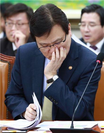 14일 정무위원회 오후 회의에 참석한 최종구 금융위원장. 사진=연합뉴스