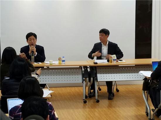 장병규 4차산업혁명위원장이 15일 열린 기자간담회를 통해 다음달 규제개혁을 위해 해커톤을 개최할 계획이라고 밝혔다.
