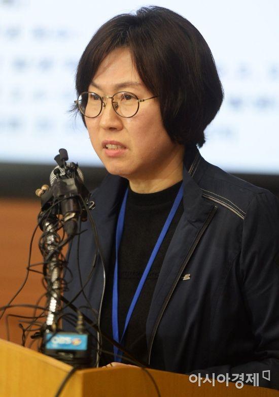 [포토]현황 보고하는 이미선 지진화산센터장
