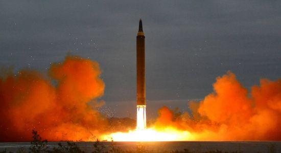 北 화성-15형 미사일 발사 [이미지출처=연합뉴스]