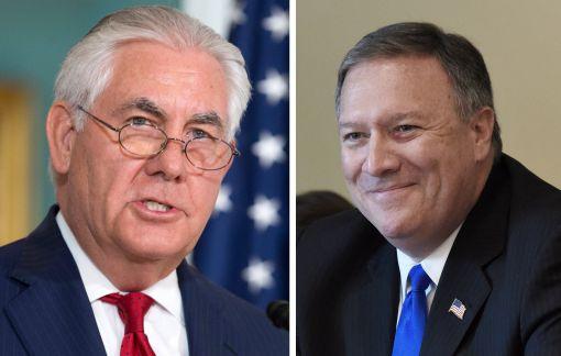 [이미지출처=EPA연합뉴스] 렉스 틸러슨 미 국무부 장관(왼쪽)과 마이크 폼페오 CIA 국장