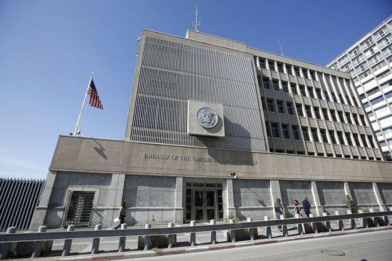 이스라엘의 경제수도 텔아비브에 있는 미국 대사관 (사진=EPA연합뉴스)