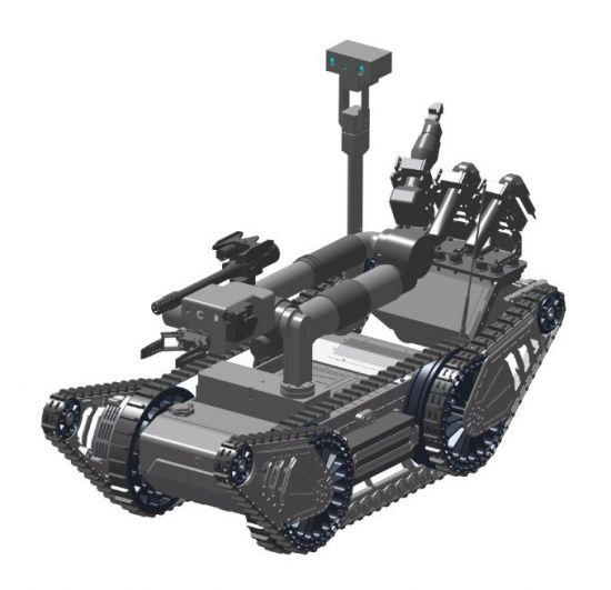 국내 방산기업인 한화지상방산이 개발할 폭발물 탐지ㆍ제거 로봇