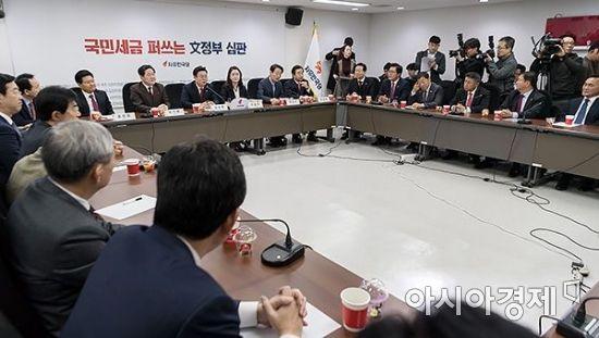 한국당 원대후보 4인, 초선들과 간담회…경선 분위기 후끈