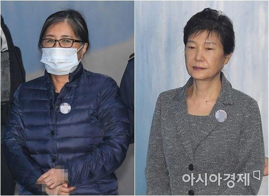 최순실, 박근혜 / 사진=아시아경제DB