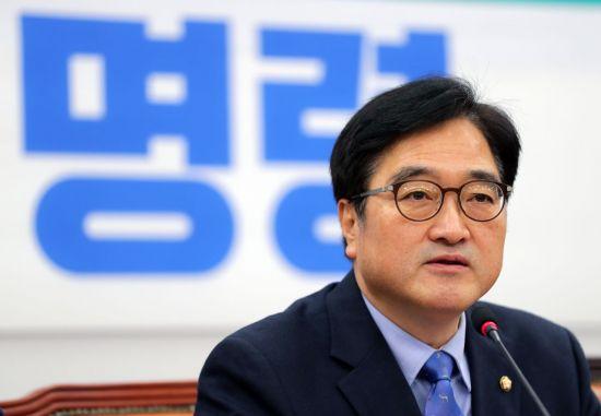 우원식 더불어민주당 원내대표가 28일 정책조정회의에서 발언하고 있다. 사진=연합뉴스