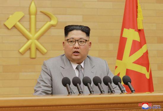 김정은 북한 노동당 위원장이 1일 신년사를 하고 있다. 사진=AP연합뉴스