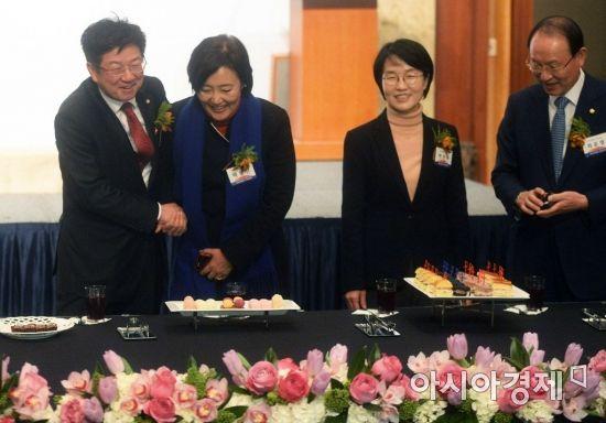 [포토]범금융 신년인사회 참석한 여야 의원들