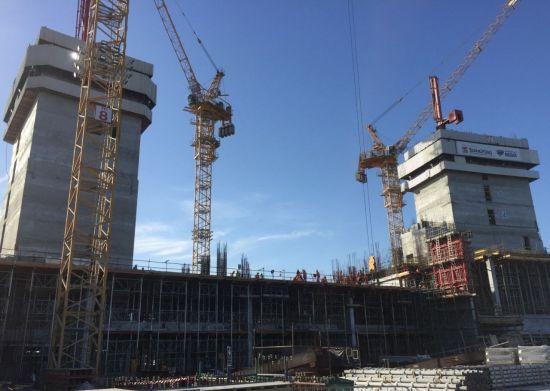쌍용건설이 시공을 맡은 아랍에미리트(UAE) 두바이 '로열 아틀란티스 리조트 앤 레지던스' 현장. 인공섬 가장 바깥쪽 부지로 두바이 정부는 공사현장 바로 옆에 있는 호텔ㆍ워터파크와 함께 고급휴양지로 꾸밀 구상을 갖고 있다.