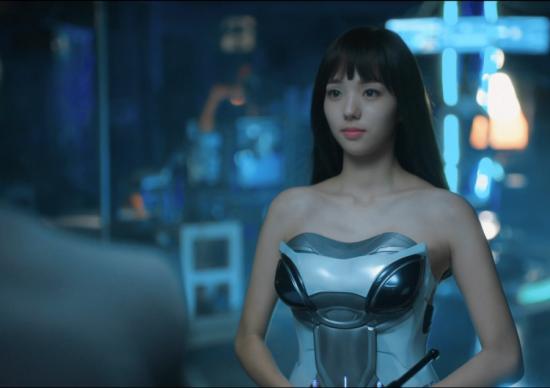 MBC '로봇이 아니야'에 등장하는 인공지능 로봇, '아지3'의 모습(사진=MBC '로봇이 아니야' 드라마 장면 캡쳐)