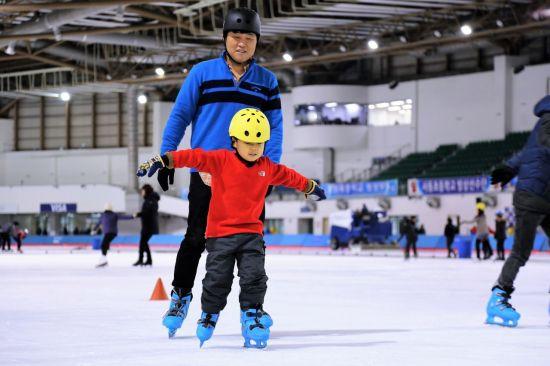 서울도심 아빠와 함께 스케이트
