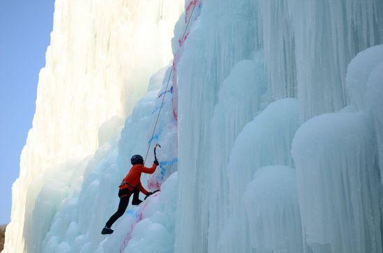 청송 얼음골 빙벽장
