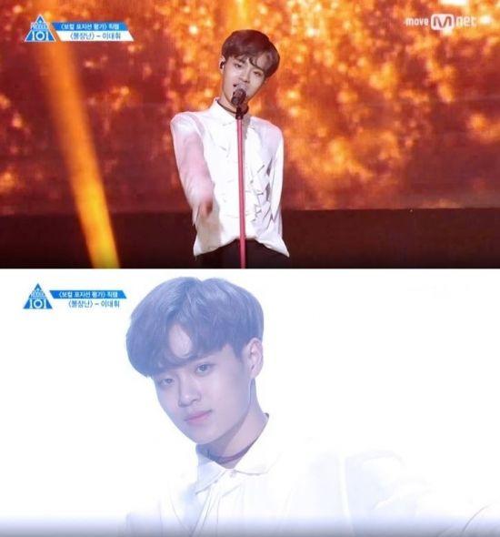 사진=Mnet '프로듀스 101 시즌 2' 개인 직캠 캡처