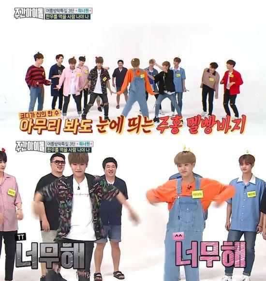 사진=MBC 에브리원 예능 프로그램 '주간 아이돌' 방송화면 캡처
