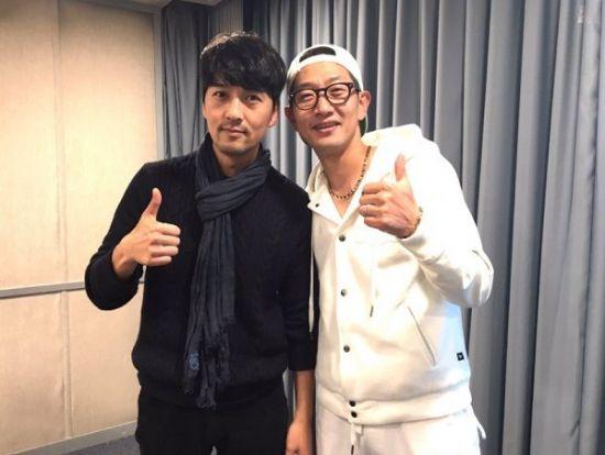 이필모(왼쪽), 김창렬 / 사진='올드스쿨' 트위터