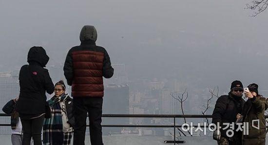 [포토] 미세먼지 '기념사진'