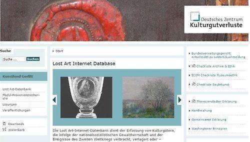 독일분실예술품재단이 운영하는 나치 약탈 미술품 등록 웹사이트 [이미지=연합뉴스]