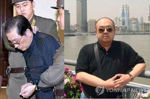 장성택(왼쪽)과 김정남.(이미지출처=노동신문·교도통신·연합뉴스)