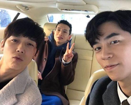 배우 윤종훈, 봉태규, 신성록/사진=신성록 인스타그램