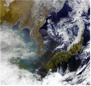 올해 2월 천리안 위성 1호가 촬영한 한반도 해상