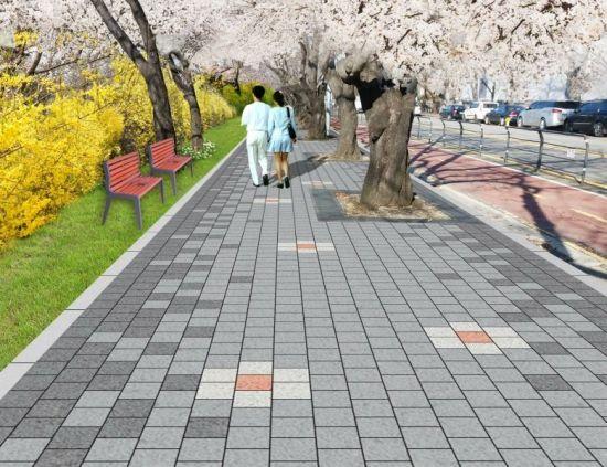 여의도 봄꽃길 보도 및 경관조명등 정비