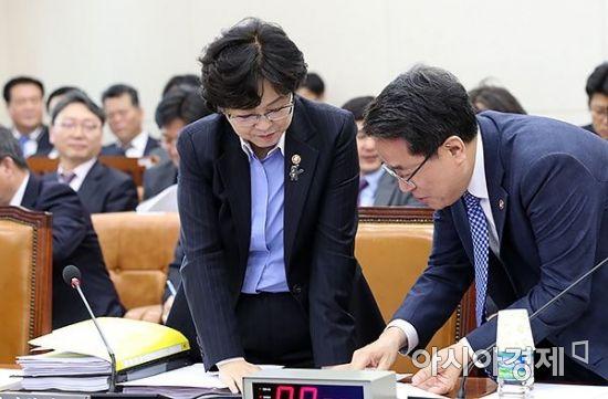[포토] 국회 환노위 출석한 김은경 장관