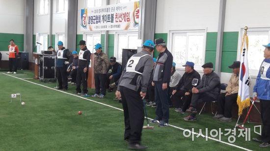 함평군 엄다면, 전천후 게이트볼장 준공기념 대회 개최