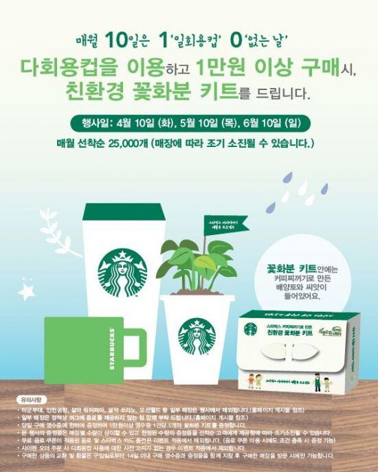 일회용컵 없는 날' 스타벅스커피코리아의 행사 포스터.