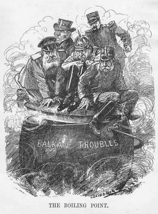 1912년 당시 발칸전쟁 상황을 풍자한 삽화(사진=위키피디아)