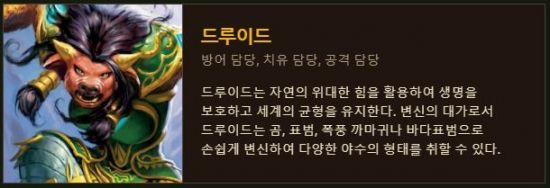 온라인 게임 월드 오브 워크래프트 '드루이드' 직업 설명 / 사진=월드 오브 워크래프트 공식 홈페이지 캡처