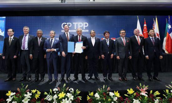 일본과 호주, 뉴질랜드, 캐나다, 멕시코, 칠레, 페루, 싱가포르, 베트남, 말레이시아, 브루나이 등 기존 11개 TPP 회원국은 지난 3월 칠레에서 미국의 탈퇴 이후 기존 TPP의 일부 조항을 수정한 포괄적·점진적 환태평양경제동반자협정(CPTPP) 협상을 타결했다. [이미지출처=EPA연합뉴스]