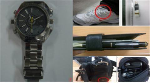 여러 가지 형태의 몰래카메라.사진=경찰청 공식블로그