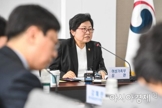 [포토] 정현백 여성가족부 장관 모두발언