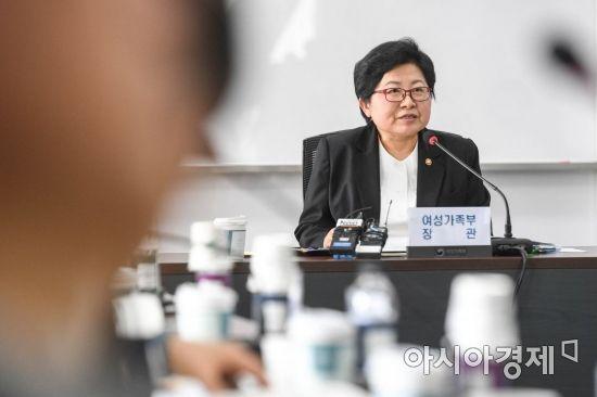 [포토] 성희롱-성폭력 근절 추진 협의회 참석한 정현백 장관