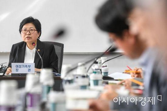[포토] 성폭력 근절 추진 협의회 참석한 정현백 장관