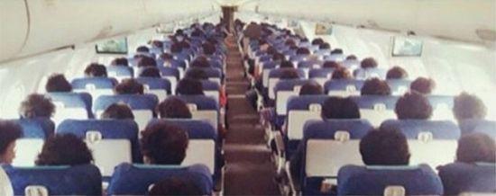 승무원이 올린 논란의 사진. 사진=SNS 캡처