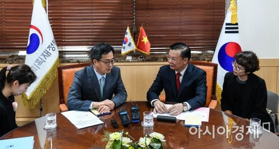 [포토] 한-베트남 재무장관 면담