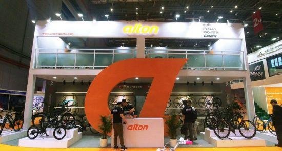 상해 국제 자전거 박람회 2018의 알톤스포츠 부스 모습