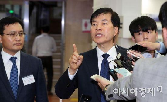 [포토] 김태한 사장, '분식회계 아니에요'