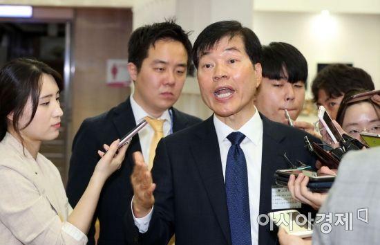 [포토] 분식회계 논란 반박하는 김태한 삼성바이오로직스 사장