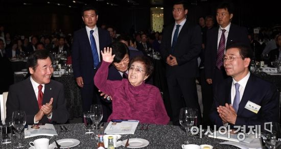 [포토] 6.15 남북정상회담 기념식 참석한 이희호 여사