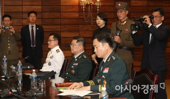 [포토]공동보도문 발표하는 김도균 남측 수석대표