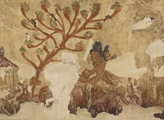 각저총 널방의 왼쪽 벽화[사진=한성백제박물관 제공]