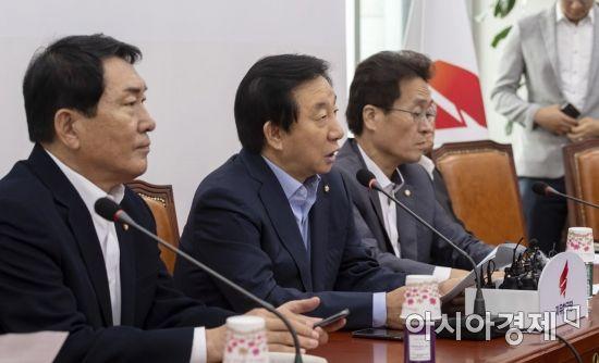 [포토] 모두발언하는 김성태 대표대행