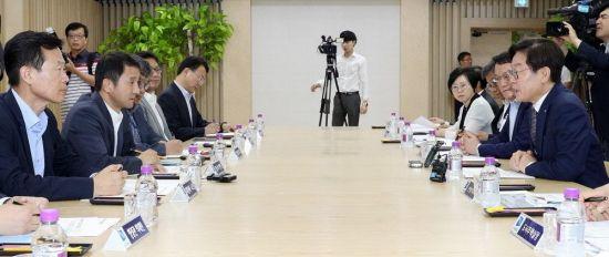 """이재명지사 한병도 靑수석 만나 """"문재인정부 성공 돕겠다"""""""
