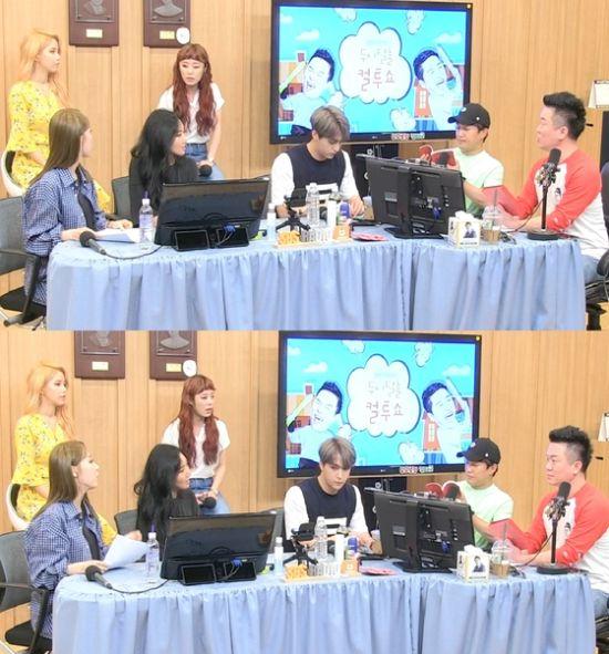 ▲ SBS 파워FM '두시탈출 컬투쇼' 마마무, 손동운, 차태현, 김태균   © 사진=방송 화면 캡처