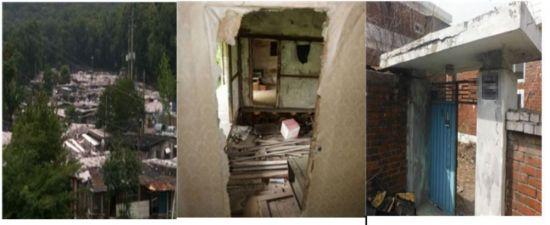 전기ㆍ수도가 여의치 않은 무허가 건축물 1100가구가 빼곡히 몰려 살고 있는 강남구 구룡마을(왼쪽부터)과 수 년간 지방에 방치돼 있는 빈집들의 모습 /