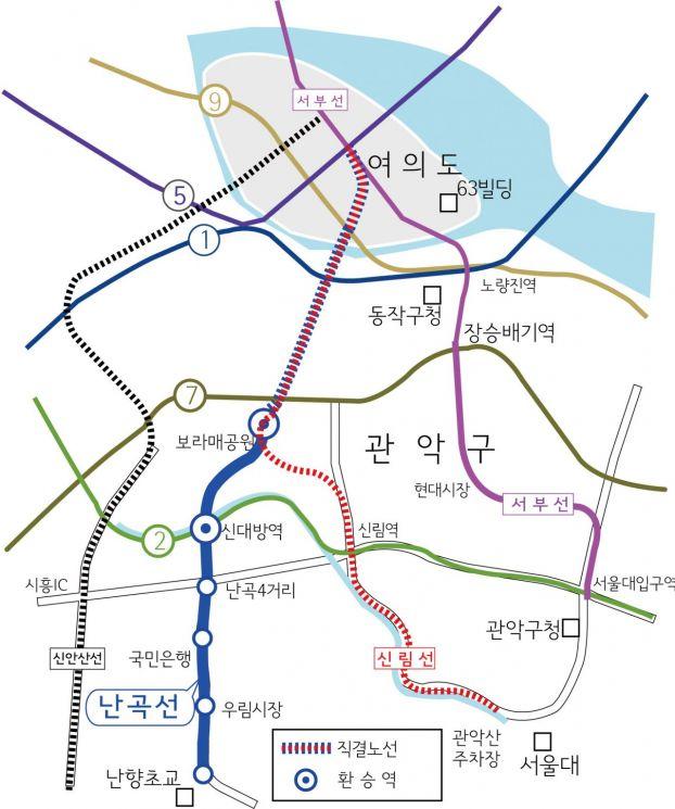 경전철 3개 노선-난곡선